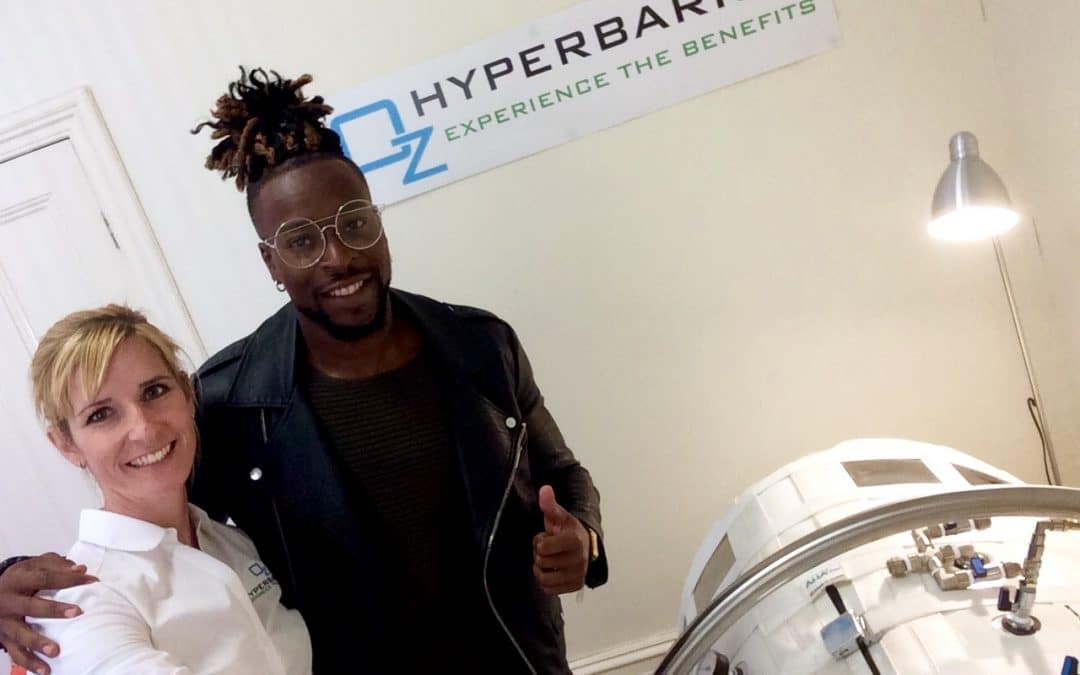 Australian soccer player about hyperbaric treatment in AHA Flex chamber