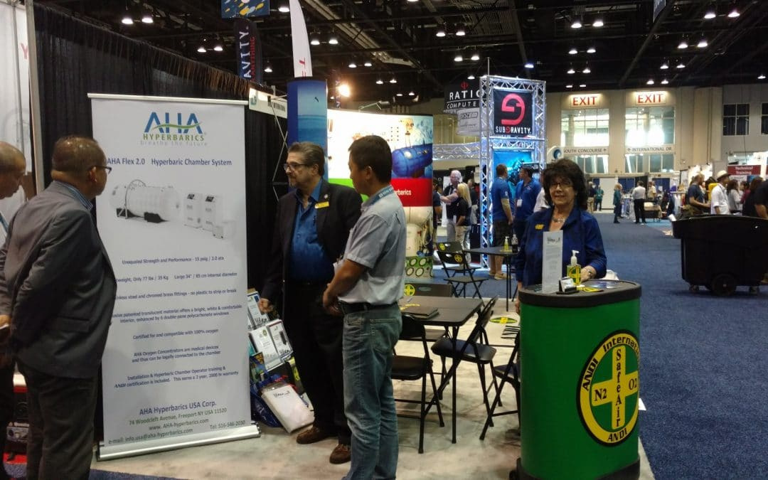 AHA Hyperbarics USA presented its advantages to dive and travel industry professionals on DEMA Show 2017!